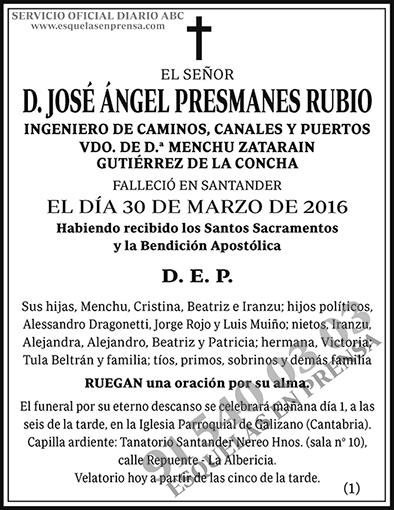 José Ángel Presmanes Rubio